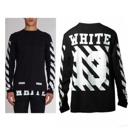 streetwear brand mens fashion undershirt fitness long sleeve t shirt black  men clothing styles kanye west striped shirt men 3486c6e0883