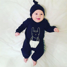 Newborn Autumn Rompers 2016 Cute Toddler Baby Girl Boy Cartoon Jumpers Rompers Playsuit Outfits Clothes 0-24M