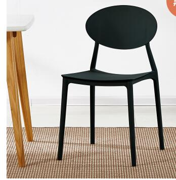 Simple modern dining chair fashion casual backrest plastic home balcony outdoor desk chair.Simple modern dining chair fashion casual backrest plastic home balcony outdoor desk chair.