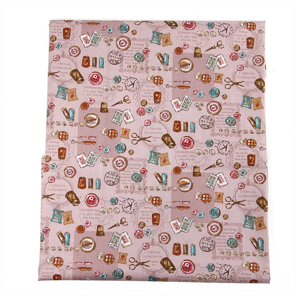 50*147CM Sewing Tools 100% cotton fabric for Tissue Kids Bedding textile for Sewing Tilda Doll, DIY handmade materials,43978-2