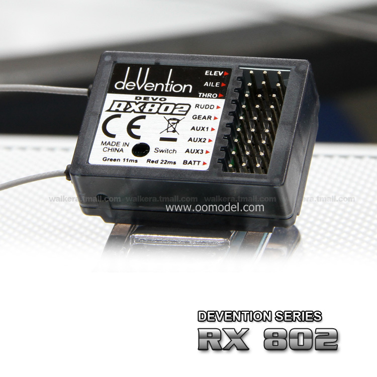 Walkera RX802 8 CH Receiver Devention Receiver for Walkera devo 6/devo 7/devo8s/devo10/devo12 Free Shipping стоимость