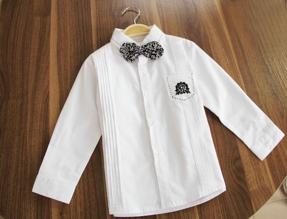 2015 нова детска риза с дълъг ръкав (100% - Детско облекло - Снимка 3