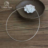 Lotus Fun Real 925 Sterling Silver Necklace Handmade Fine Jewelry Fashion Choker Chain for Women Gift Collier Femme Acessorios