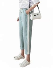 Feng Wang Bao Cotton Linen Pants Summer Women's Trousers