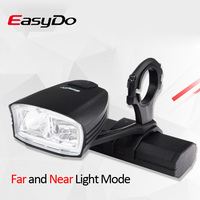 EasyDo Smart Bicycle Headlight with Far/Near Beam MTB Road Bike USB Rechargeable Front LED Lamp Waterproof Cycling Flashlight