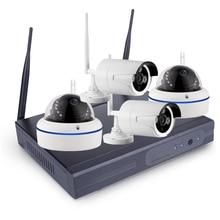 4CH 1080P Wireless NVR Kit P2P 1080P Indoor Outdoor IR Night Vision Security 2.0MP IP Camera WIFI CCTV System