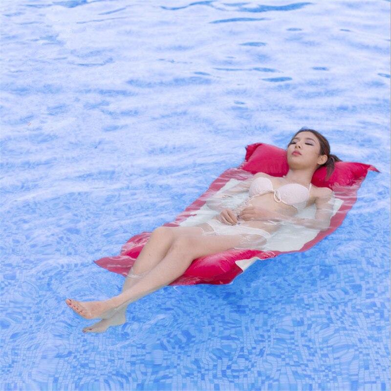 Lit flottant extérieur lit flottant gonflable gratuit matelas d'air matelas d'eau lit d'eau flottant hamac lit de mer flottant