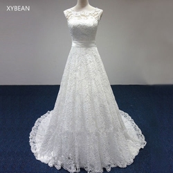 Cheap price 2017 new free shipping cap sleeve lace sashes a line white ivory wedding dresses.jpg 250x250