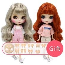 Icy blyth boneca nude corpo comum com mão conjunto ab nenhuma maquiagem rosto como um presente 30cm 1/6 bonecas bjd moda brinquedos menina presente