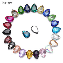 Super Different Colors Drop Beauty Top Quality Glass Crystal flatback Sew on Claw Rhinestones diy Clothing Accessories 50pcs