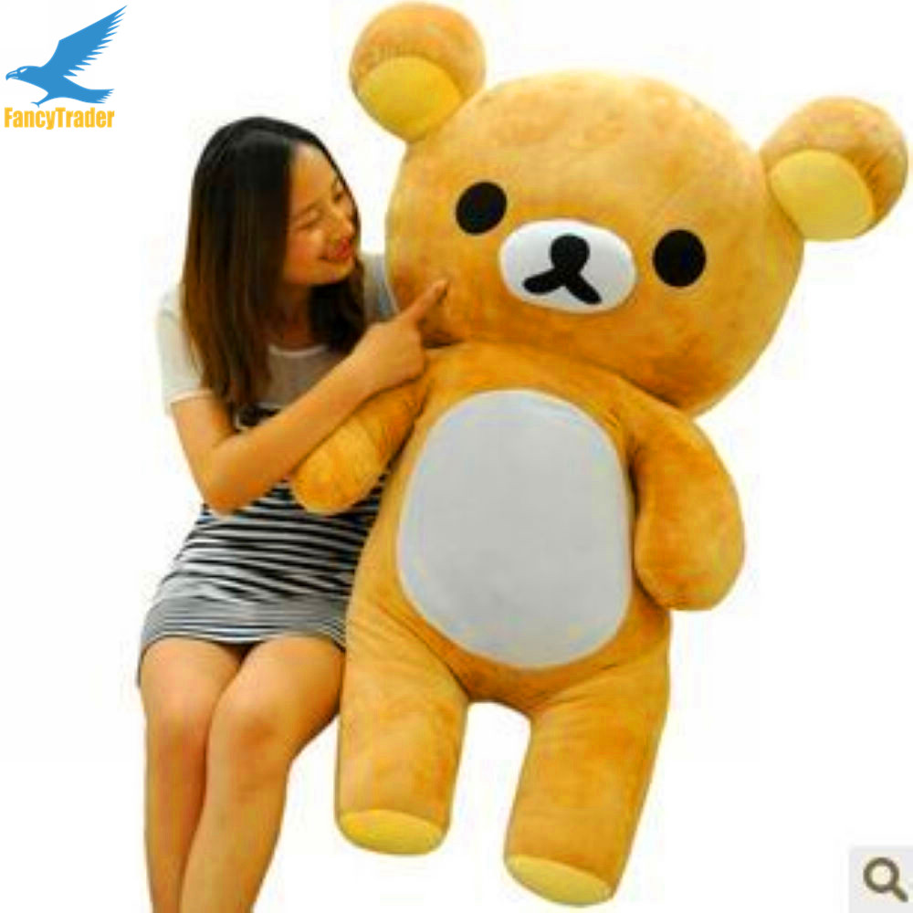 Fancytrader 43'' Giant Stuffed Rilakkuma Big Plush Toys Bear 110 cm Best Birthday Gift for Kids and Lovers FT90079