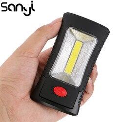 2 режима COB светодиодный магнитный рабочий складной крюк карманный фонарь Удобная Лампа для кемпинга палатка свет аварийный осмотр Lanterna