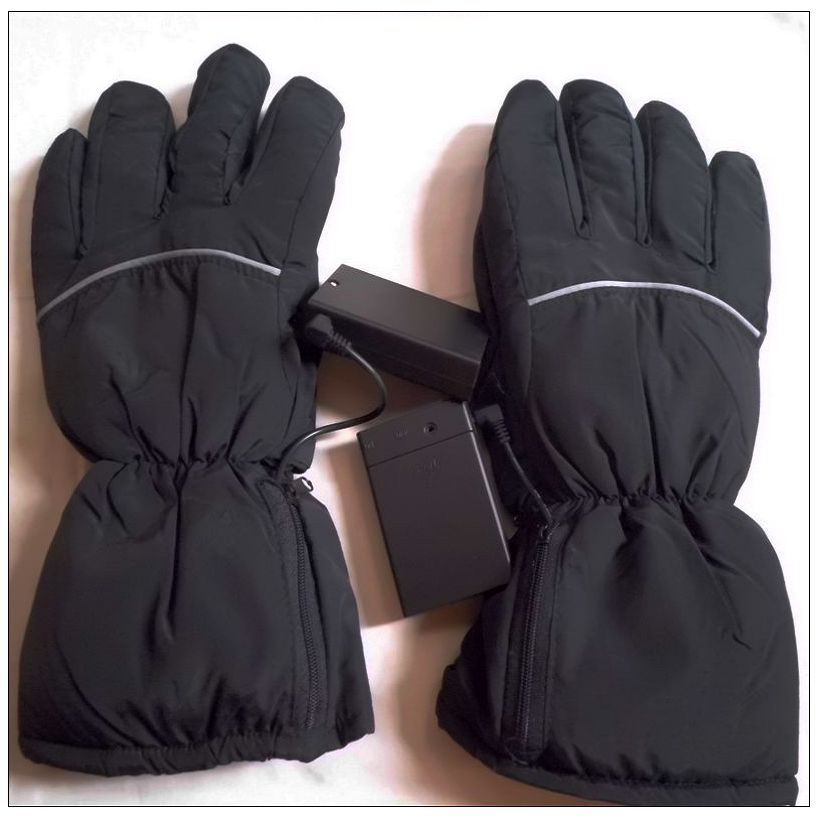High Quality Outdoor Activitis Motorcycle Electric Battery Mittens Black Heated Gloves Usb For External Pack