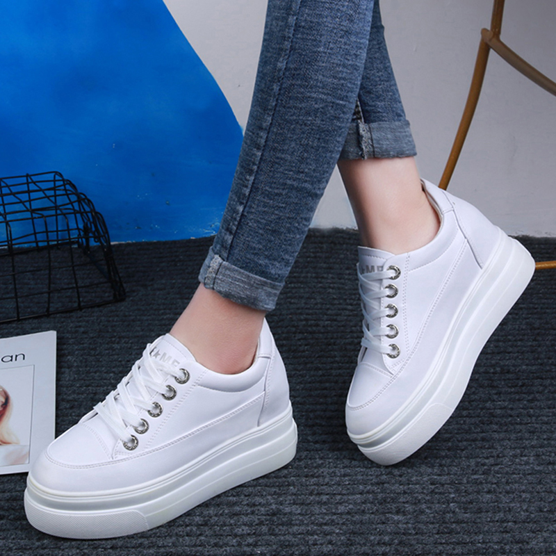 973dd4ada074bf Confortable Chaussures 2019 Sneakers Plate Blanc Formateurs Espadrilles  Conseil Printemps Grande Femmes forme Femme Panier White Wedge Appartements  0YwSxRS