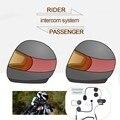 Mais novo 1 pc Banco Do Passageiro da Garupa Rider Para Intercom Falar Capacete Da Motocicleta Do Bluetooth Interfone Headset TCOM-02S