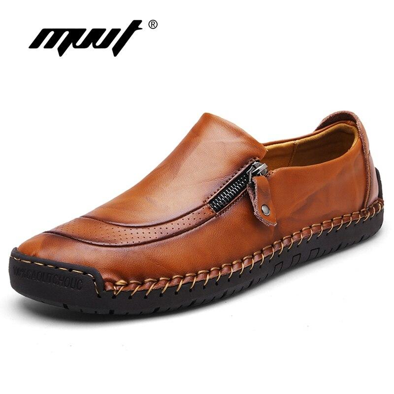 Plus tamaño 48 mocasines de los hombres de cuero de los hombres zapatos casuales cómodos zapatos de los hombres de calidad pisos de los hombres transpirables zapatos de nueva llegada 2019