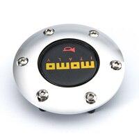 New Universal Car Steering Wheel Horn Button Aluminium Auto Carbon Fiber Speaker Control Cover General CY212