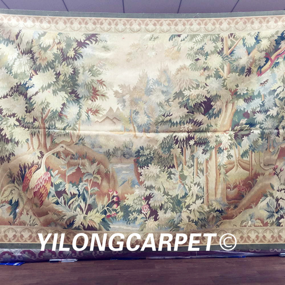 Yilong 4 X6 2 New Gobelin Picture Wall Hanging Tapestry French Design Hand Woven Aubusson W40c 4x6 In From Home Garden On