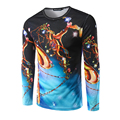 New Arrival Men's T-shirt Long Sleeve Men Printing Gold Angel T Shirt High Quality Casual fitness tshirt 3D Clothing