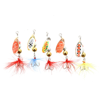 3 Pcs Of 5 ARTIFICIALI CUCCHIAINI PESCA TROTA SPINNING SPINNER 4G