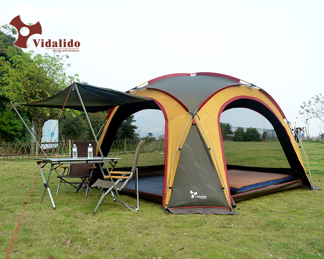 Vidalido super lightweight aluminum pole outdoor c&ing pergola awning rain and sun canopy tent barbecue car travel tent : light weight canopy - afamca.org