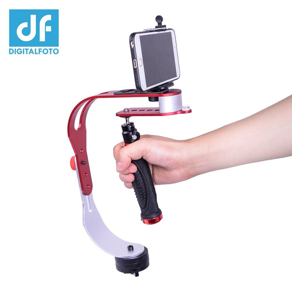 DIGITALFOTO mini de poche caméra stabilisateur vidéo steadicam mobile DSLR 5d2 Mouvement DV steadycam smartphone pince Pour Nikon Canon