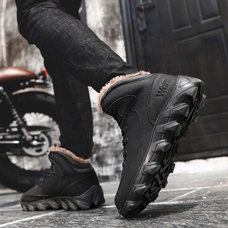 Loup Conduite brown 181 Chaud X Tactique D'hiver Hommes Cheville Designer Fourrure Travail Marque Chaussures De Bottes Mâle Black Combat Neige Qui 4nw4rqpS