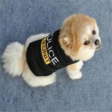 Полицейский жилет-одежда для собак и кошек, летняя футболка унисекс для щенков, одежда без рукавов, милая одежда для маленьких собак