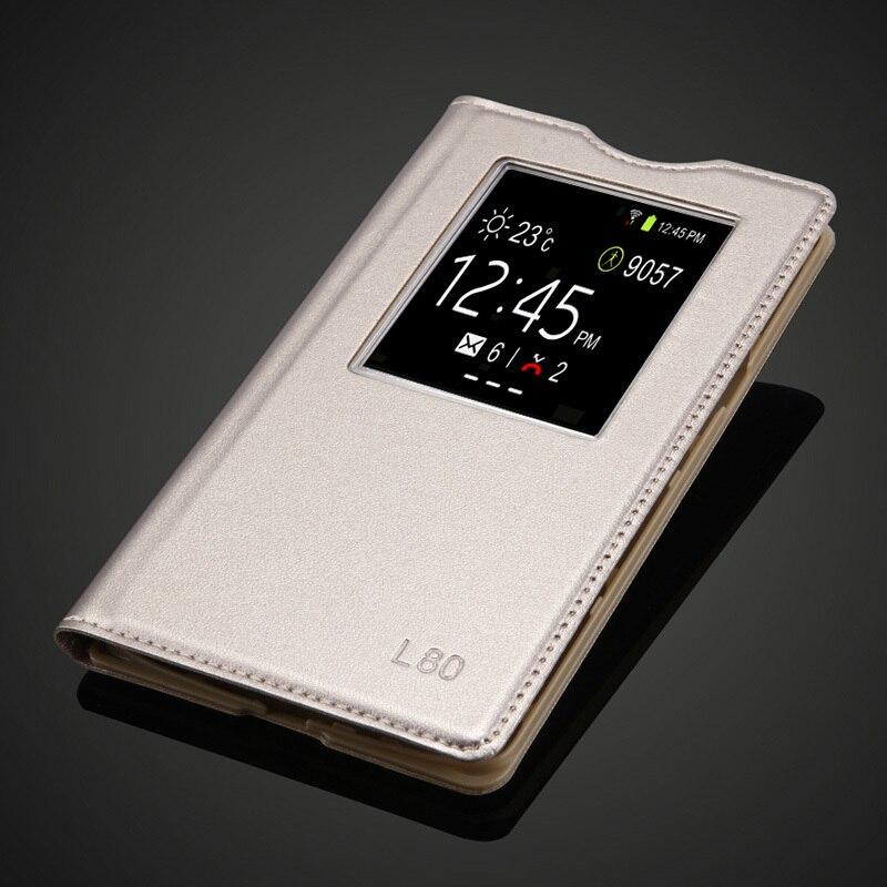 Pro LG L80 Přenosné módní otevřené okno pouzdro pro LG L80 D380 D375 Luxusní Flip Kožené pouzdro