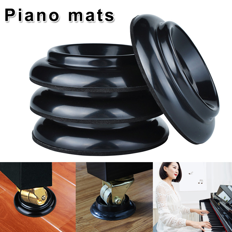 4pcs Plastic Piano Coasters Upright Caster Cups Legs Pad For Piano Furniture Asd88 Distinctive For Its Traditional Properties Home