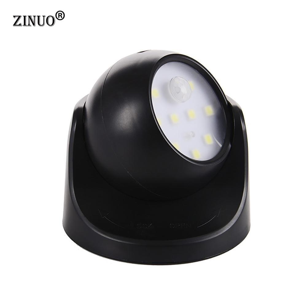 ZINUO  9SMD Led  Wireless Motion Sensor LED Night Light 360 Degree Rotation Children's Nightlight Auto PIR Detector Lamp For Kid levett caesar prostate massager for 360 degree rotation g spot