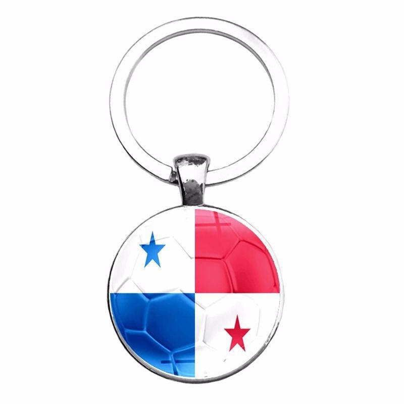 2018 Word Cup National Flag Football Time Jewel Keychain Egypt Panama Mexico Pendant