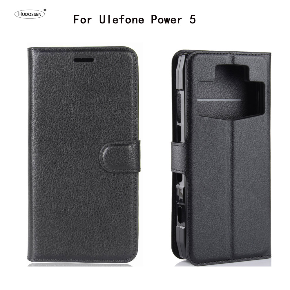 HUDOSSEN For Ulefone Power 5 Case Luxury Phone Protective Case Coque For Ulefone Power 5 Flip Cover Wallet Leather Bags