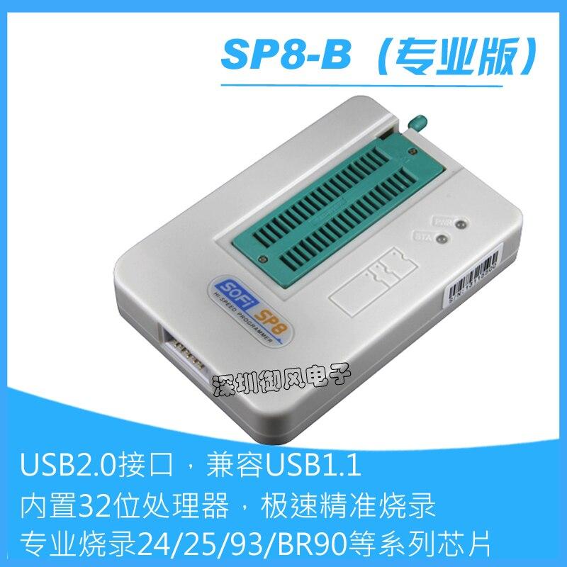 Brûleur de programmeur à grande vitesse de SP8-B brûleur professionnel 24/25/93/EEPROM/SPI BIOS IC