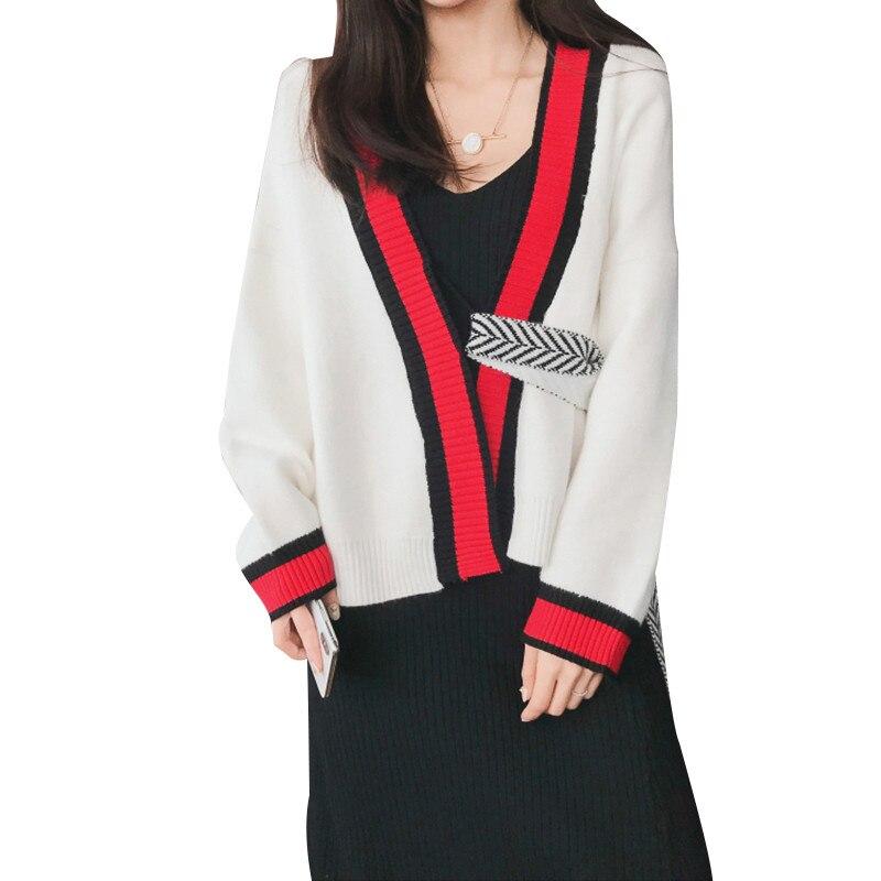 2019 nouvelles femmes tricoté Cardigan sauvage tempérament rétro lâche dames tricots automne mode élégant femme chandail manteau Lj363