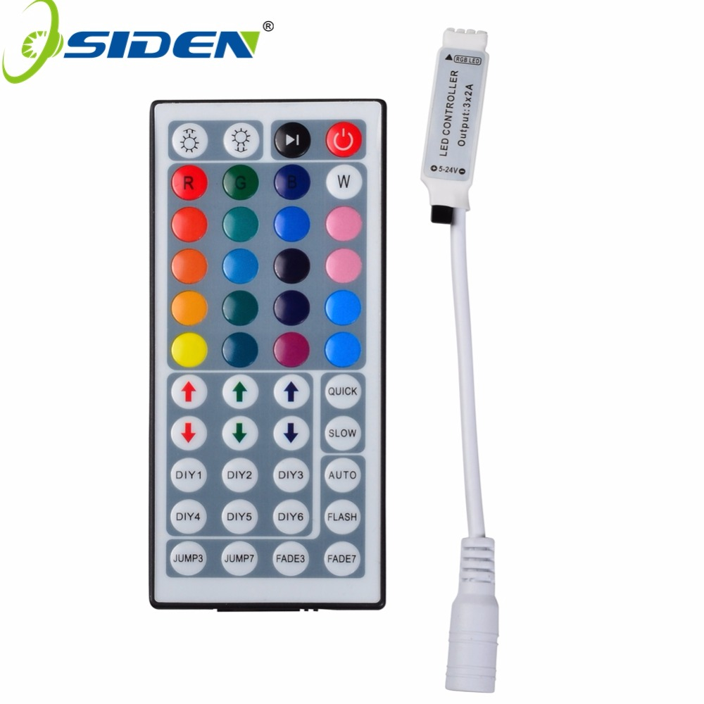 OSIDEN 50pcs Mini DC12V 44 Keys Wireless RGB LED Controller With IR Remote Control For SMD 3528 5050 5730 5630 RGB LED Strip