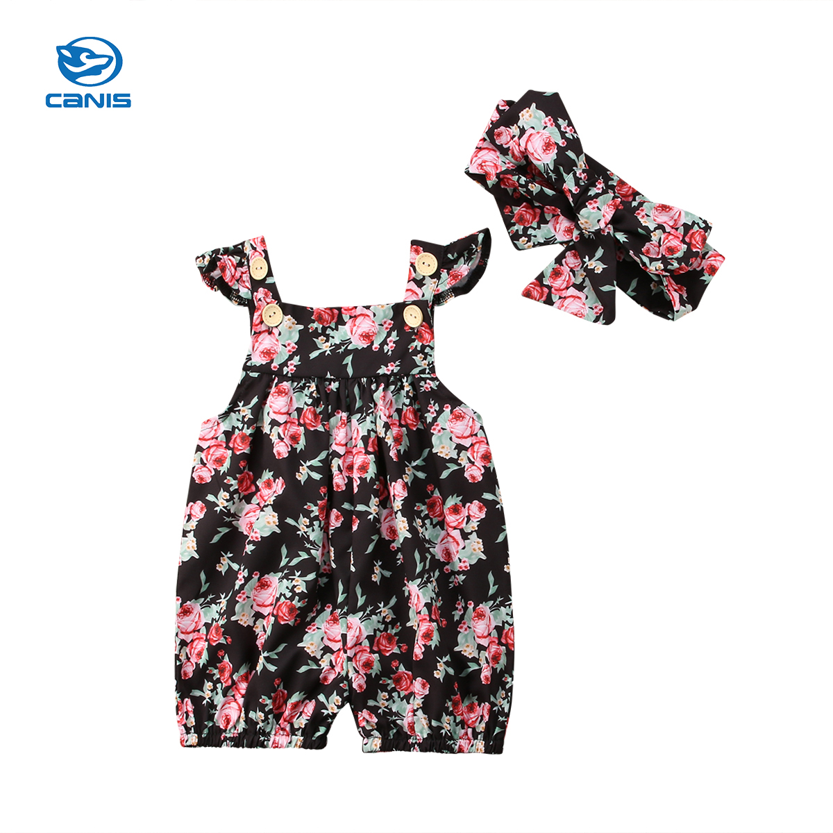 Cute Infant Newborn Kid Baby Girl Romper Floral Romper Sunsuit Playsuit Kids Baby Girl Clothes Summer Clothing