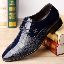 Dress shoes men business formal man crocodile shoes