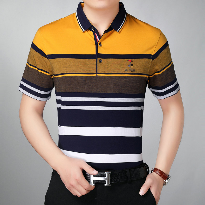 Polos à manches courtes jaunes Casual homme o3FNKd0