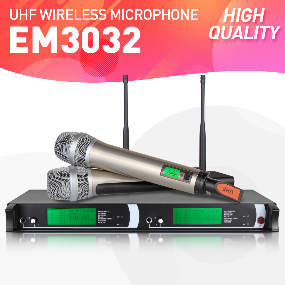 btl wireless microphone system professional karaoke 2 cordless handheld mic with uhf receiver. Black Bedroom Furniture Sets. Home Design Ideas