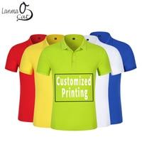Lanmaocat Custom Man's Polo Shirts Summer Mens Shirts Customized Print Short sleeve Polo Shirt Clothes for Man 3XL Free Shipping