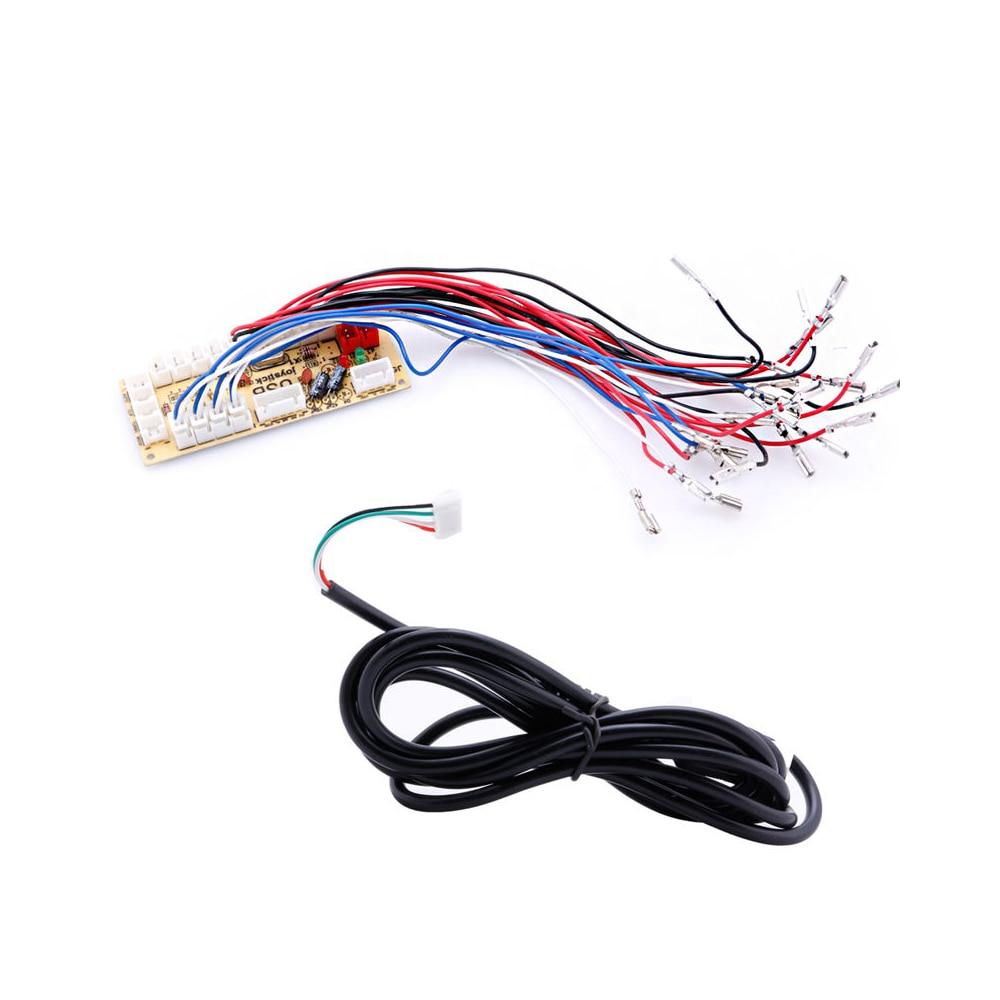Zero Delay Arcade USB Encoder PC to Joystick Arcade Rocker Circuit Board Control Module for MAME 2Pin with Cable Push Button DIY
