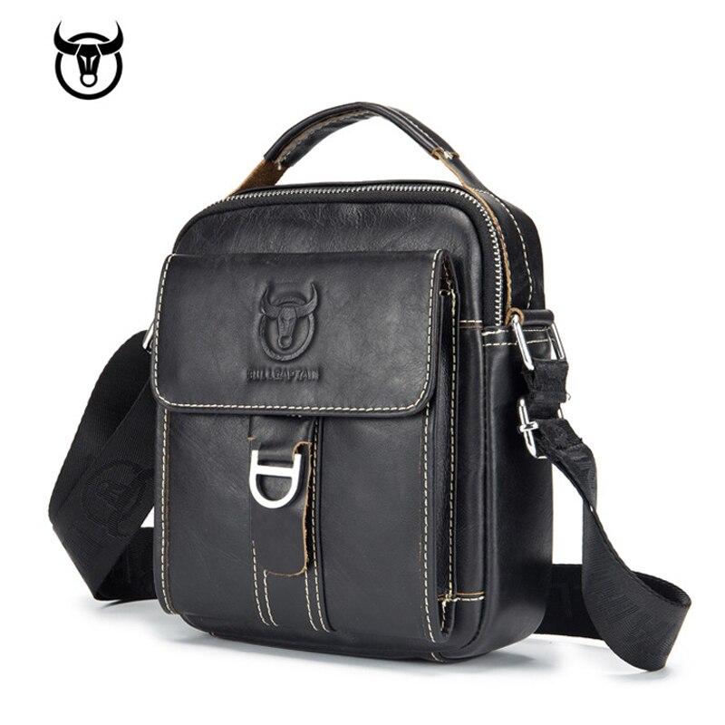 Men's Genuine Leather Messenger Bag Hot Sale Male Small Man Fashion Crossbody Shoulder Bags Men's Travel New Handbags