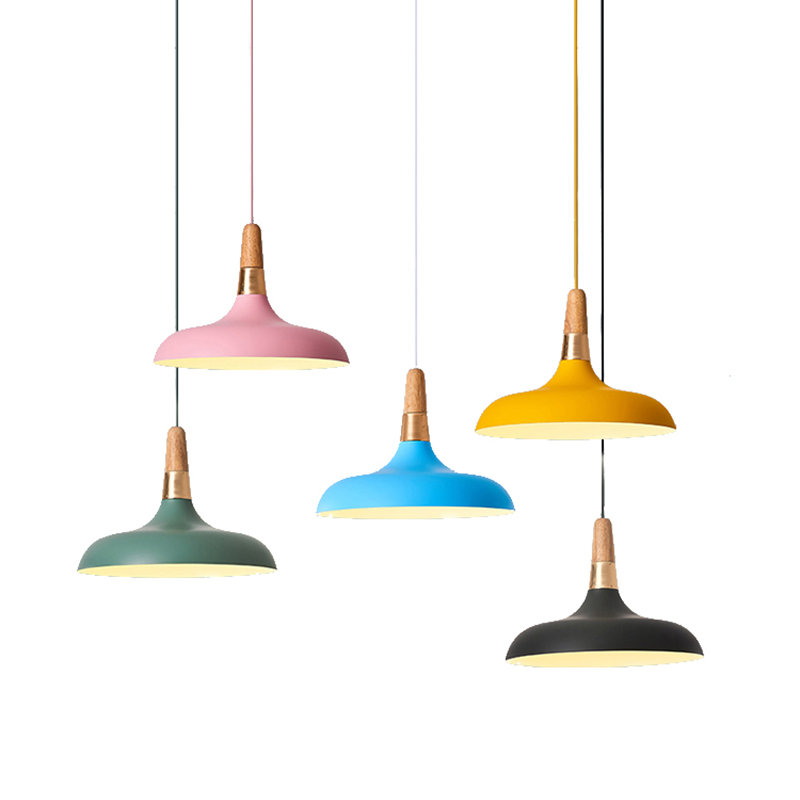 Modern simple Nordic pendant lights restaurant individuality originality bar droplight Coffee shop macarons deco hanging light nordic post modern denmark creative chandelier art crown bar coffee shop decoration light dining lights