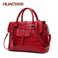 Hot Sale European Famous Brand Women's PU Leather Bag High Quality Designers Crocodile Embossed Messenger Bag Ladies HQ9080#