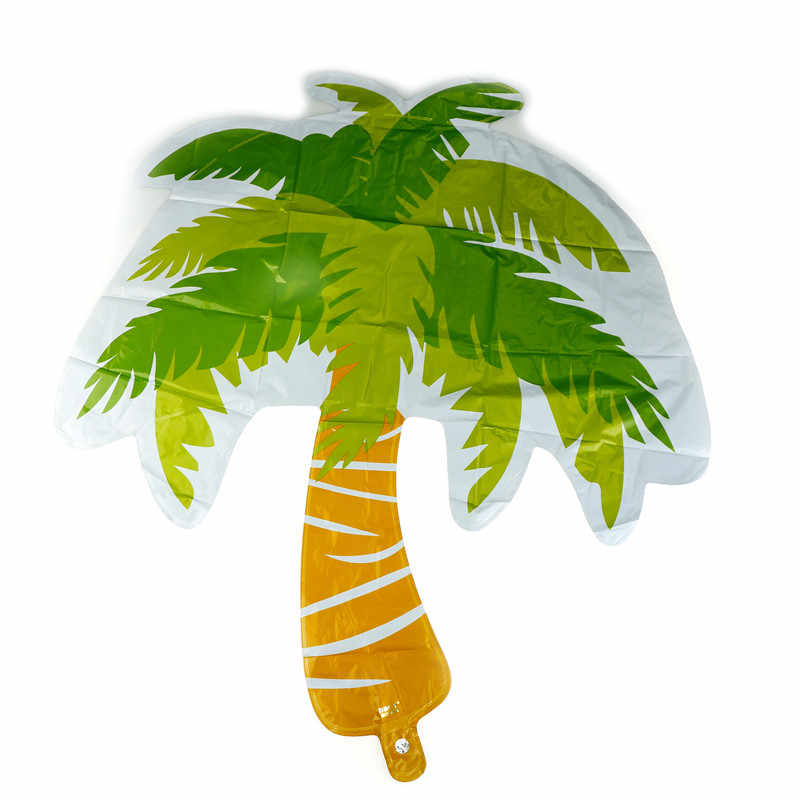 1pc Coconut Tree Palm Leaf Globos Helium Inflatable Foil Balloons Wedding Party Bar Theme Summer Party Decoration