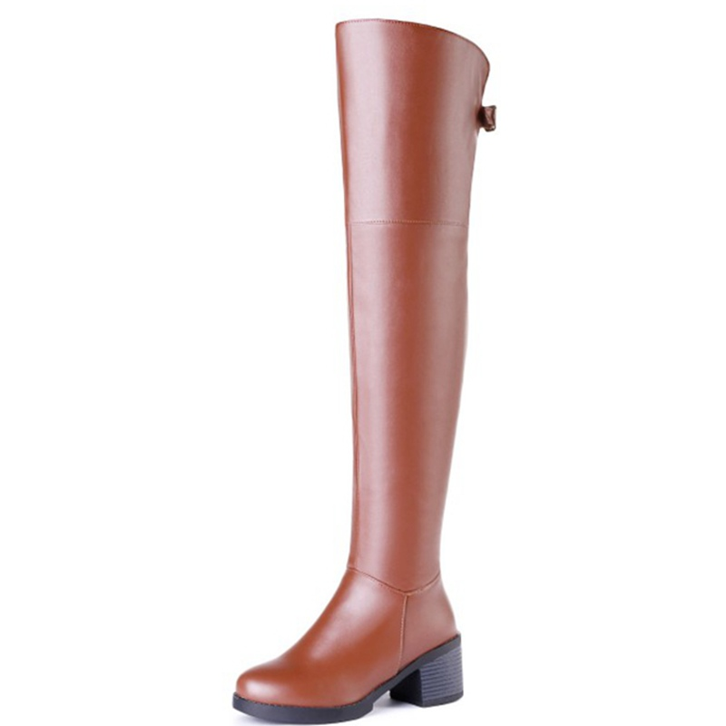 08b878836a0 ORCHA LISA Size 33 44 Women Over The Knee Boots Zipper High Heel Boots Long  Boots Thick Heel Knight female Botas Mujer C829-in Knee-High Boots from Shoes  on ...