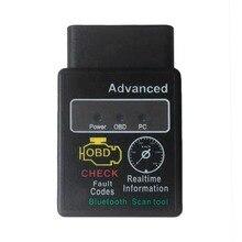 Tamanho pequeno Avançada Ferramenta de Verificação Bluetooth Para O Carro Auto Dispositivo de Diagnóstico ELM327 OBDII OBD-II OBD2 Carro Portátil Preto