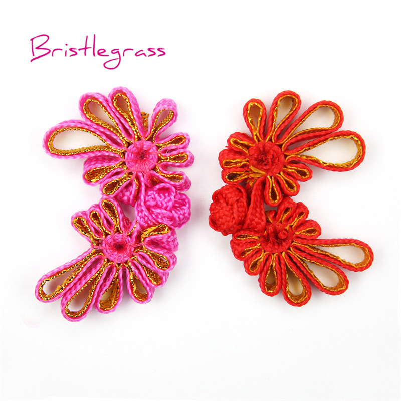Arts,crafts & Sewing Buttons Cheap Price Bristlegrass 5 Pair Handmade Red Leaf Chinese Knot Buttons Frog Closure Ribbon Fasteners Cheongsam Costume Suit Diy Sewing Craft