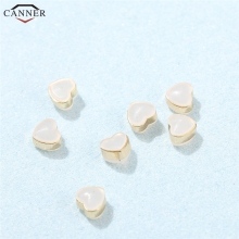 6pcs/set Heart Silicone Rubber Earrings Stopper Gold/Silver